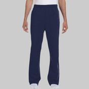 Logo - 974MP Jerzees 8 oz., 50/50 NuBlend® Open-Bottom Sweatpants