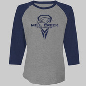 Flock - 6051 Next Level Unisex Triblend 3/4-Sleeve Raglan